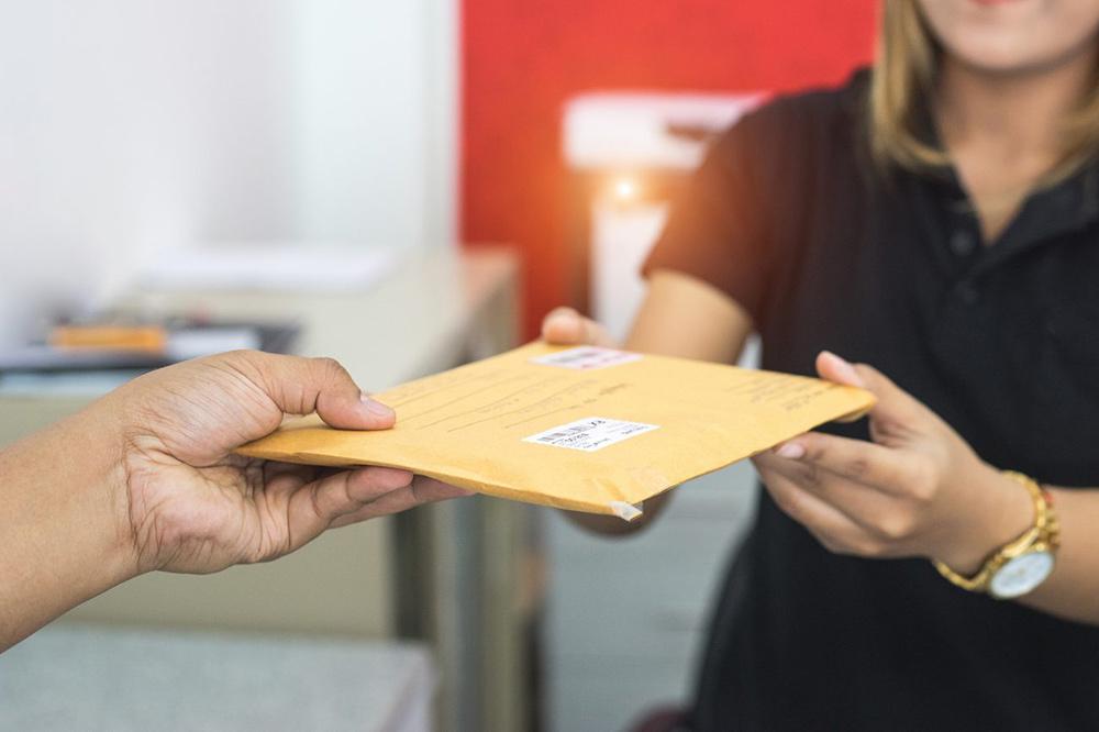 уведомление в письме
